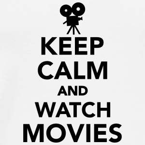 Keep calm and watch movies Tassen & Zubehör - Männer Premium T-Shirt