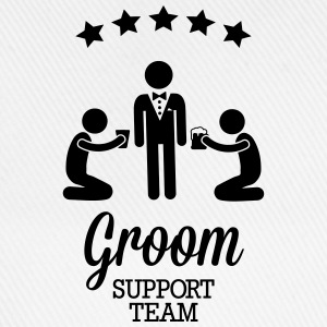 Groom Support Team T-Shirts - Baseball Cap
