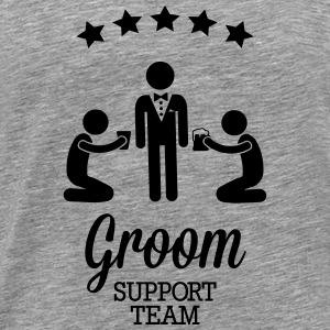 Groom Support Team Topper - Premium T-skjorte for menn