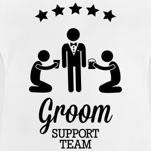 Groom Support Team T-Shirts - Baby T-Shirt