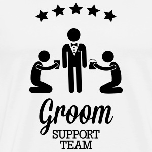 Groom Support Team Manches longues - T-shirt Premium Homme