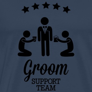 Groom Support Team Långärmade T-shirts - Premium-T-shirt herr