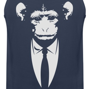 Ape i en dress med banan T-skjorter - Premium singlet for menn