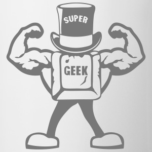 super geek personnage touche muscle 0 Tee shirts - Tasse