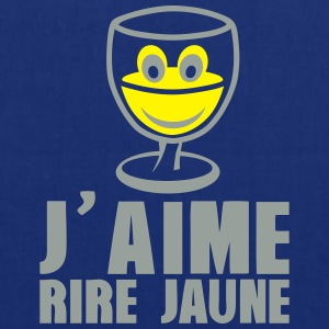 j aime rire jaune pastis alcool humour Tabliers - Tote Bag