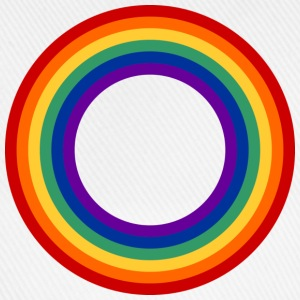 Rainbow Circle T-shirts - Baseballkasket