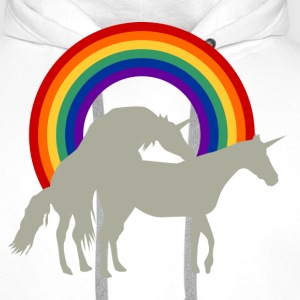 Unicorn Under the Rainbow T-shirts - Premiumluvtröja herr