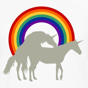 Unicorn Under the Rainbow T-shirts - Långärmad premium-T-shirt herr