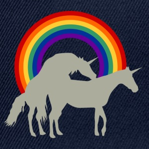Unicorn Under Rainbow T-shirts - Snapback Cap
