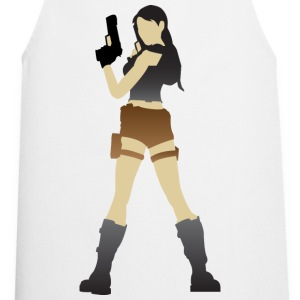 A sexy grave hunter with two guns Other - Cooking Apron