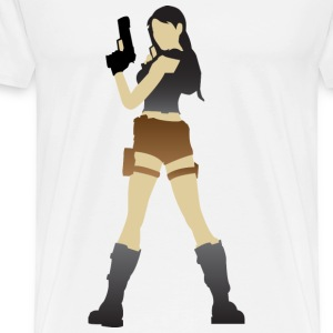 A sexy grave hunter with two guns Other - Men's Premium T-Shirt