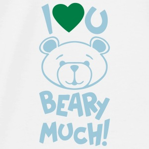 Cute Bear Valentine Mousepad - Men's Premium T-Shirt