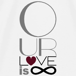 Our Love is Infinite Mousepad - Men's Premium T-Shirt
