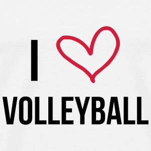 I Love Volleyball Sweatshirts - Herre premium T-shirt