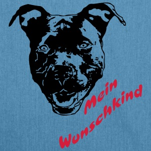 Mein Wunschkind Pitbull Sportbekleidung - Schultertasche aus Recycling-Material