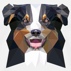 Aussie, low poly, black Mugs & Drinkware - Men's Premium T-Shirt