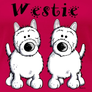 West Highland Terrier Duo Langarmshirts - Frauen Premium T-Shirt