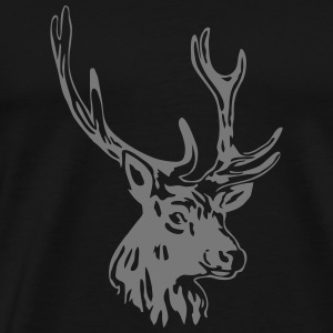 deer - antler - hunting - hunter Tops - Men's Premium T-Shirt