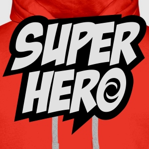 Superhero, Comic, Hero, Quotes, Winner, Champion T-Shirts - Men's Premium Hoodie