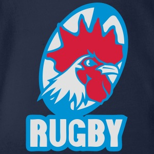 rugby embleme france coq logo equipe Tee shirts - Body bébé bio manches courtes