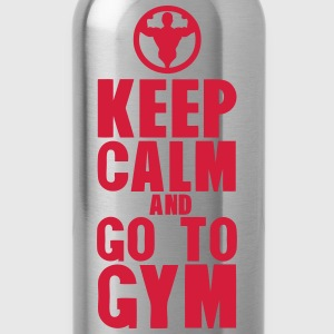 keep calm and go to gym bodybuilding Débardeurs - Gourde
