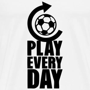 play every day repeat football actualise Langarmshirts - Männer Premium T-Shirt