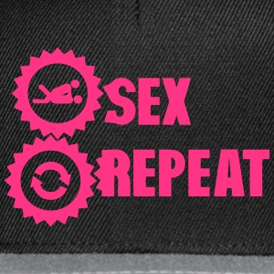 sex repeat amour icon sexe Tee shirts - Casquette snapback