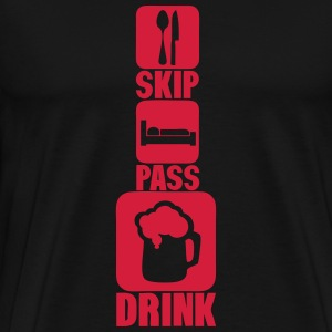 skip pass drink alcool biere humour 3 Sweat-shirts - T-shirt Premium Homme