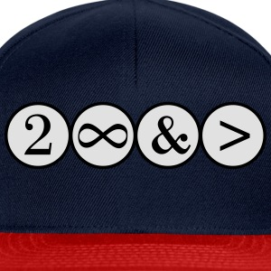 To Infinity and beyond! Love, Valentines Day, Math T-Shirts - Snapback Cap