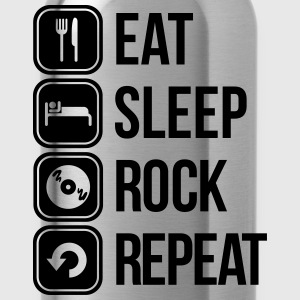 eat sleep rock repeat T-Shirts - Trinkflasche