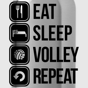 eat sleep volley repeat T-Shirts - Water Bottle