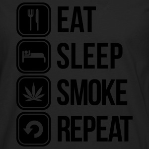 eat sleep smoke repeat T-Shirts - Men's Premium Longsleeve Shirt