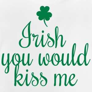irish you would kiss me handwriting Shirts met lange mouwen - Baby T-shirt