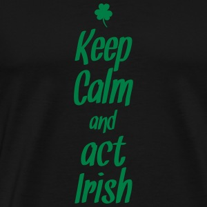 keep calm and act irish Tank Tops - Herre premium T-shirt