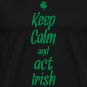 keep calm and act irish Skjorter med lange armer - Premium T-skjorte for menn