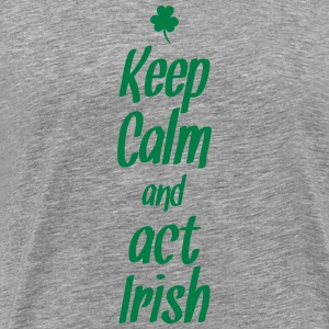 keep calm and act irish Långärmade T-shirts - Premium-T-shirt herr