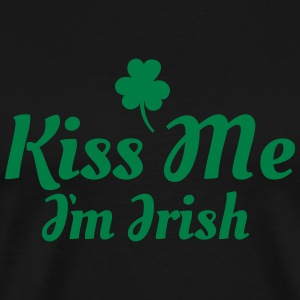 kiss me i'm irish excellent Tröjor - Premium-T-shirt herr