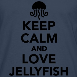 Keep calm and love jellyfish T-Shirts - Männer Premium Langarmshirt