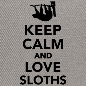 Keep calm and love sloths T-Shirts - Snapback Cap