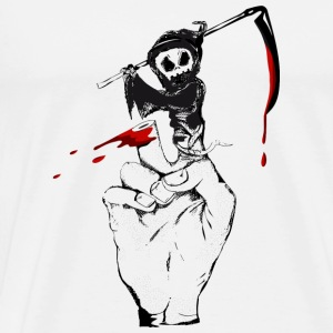 A Grim Reaper as a finger puppet Mugs & Drinkware - Men's Premium T-Shirt