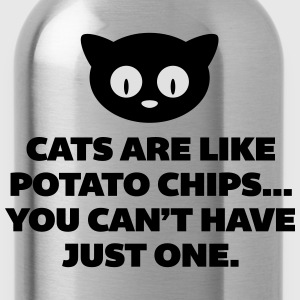 Cats Are Like Potato Chips  T-shirts - Drikkeflaske