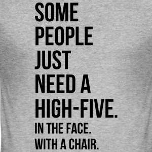 Need A High-Five  Sweat-shirts - Tee shirt près du corps Homme