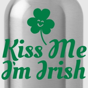 kiss me i'm irish fancy / clover / shamrock Magliette - Borraccia