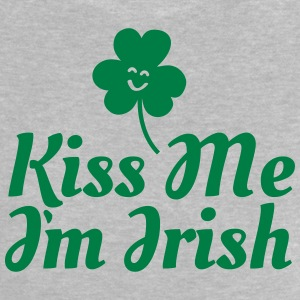 kiss me i'm irish fancy / clover / shamrock Shirts met lange mouwen - Baby T-shirt