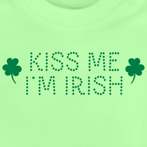 kiss me i'm irish dotted / shamrock / st paddy's T-shirts - Baby T-shirt