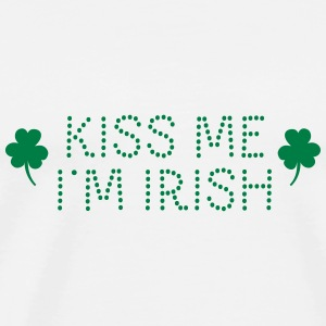 kiss me i'm irish dotted / shamrock / st paddy's Tops - Camiseta premium hombre