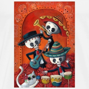Dia de Los Muertos Musicians Sports wear - Men's Premium T-Shirt