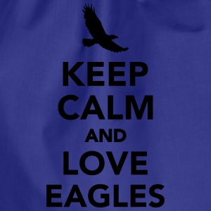 Keep calm and love eagles T-Shirts - Turnbeutel