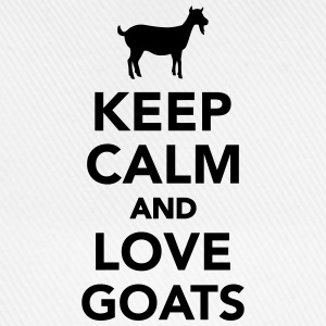 Keep calm and love goats Tassen & Zubehör - Baseballkappe