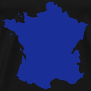Karte Frankreich, France Map Sports wear - Men's Premium T-Shirt